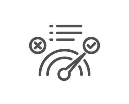 Correct answer line icon. Accepted or confirmed sign. Approved symbol. Quality design element. Classic style quiz. Editable stroke. Vector