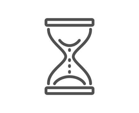 Ikona linii klepsydry czasu. Piasek zegarek znak. Element projektu jakości. Klasyczny styl. Obrys edytowalny. Wektor