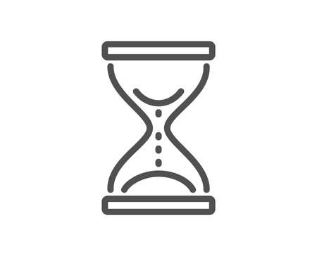 Time hourglass line icon. Sand watch sign. Quality design element. Classic style. Editable stroke. Vector