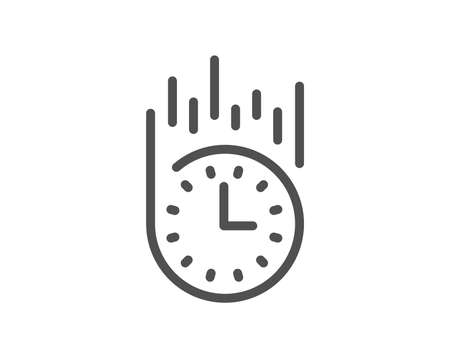 Fast delivery line icon. Time sign. Quality design element. Classic style express delivery. Editable stroke. Vector  イラスト・ベクター素材
