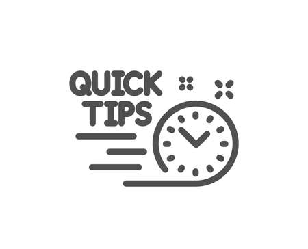 Quick tips line icon. Helpful tricks sign. Tutorials symbol. Quality design element. Classic style. Editable stroke. Vector 向量圖像
