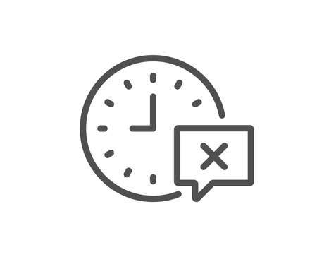 Time line icon. Remove alarm sign. Quality design element. Classic style. Editable stroke. Vector Illustration