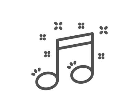 Musical note line icon. Music sign. Quality design element. Classic style music notation. Editable stroke. Vector