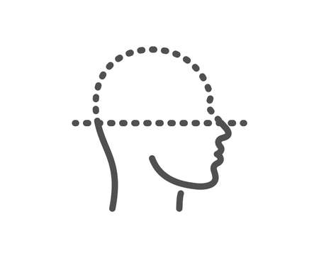Face scanning line icon. Facial scan sign. Head recognition symbol. Quality design element. Classic style face-id. Editable stroke. Vector