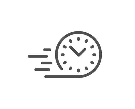Fast delivery line icon. Time sign. Quality design element. Classic style. Editable stroke. Vector  イラスト・ベクター素材