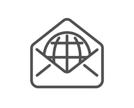 Web Mail line icon. Message correspondence sign. E-mail symbol. Quality design element. Classic style web mail. Editable stroke. Vector