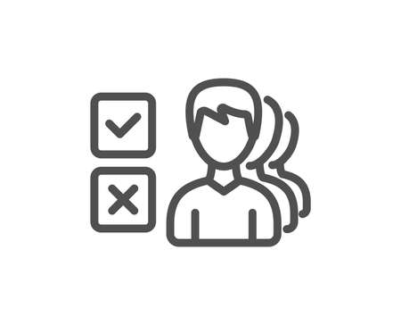 Choice line icon. Select answer sign. Business test symbol. Quality design element. Classic style. Editable stroke. Vector