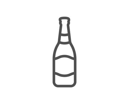 Beer bottle line icon. Pub Craft beer sign. Brewery beverage symbol. Quality design element. Classic style beer. Editable stroke. Vector 向量圖像