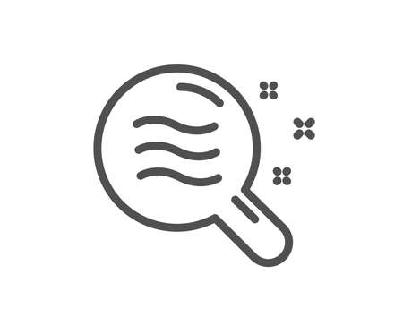 Skin condition line icon. Search magnifier sign. Quality design element. Classic style. Editable stroke. Vector