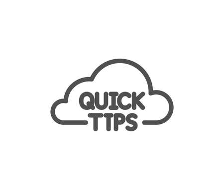 Quick tips cloud line icon. Helpful tricks sign. Quality design element. Classic style. Editable stroke. Vector