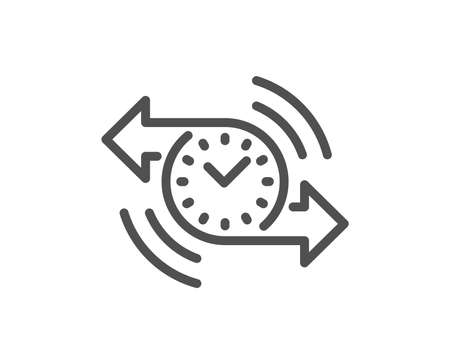Timer line icon. Time or clock sign. Quality design element. Classic style. Editable stroke. Vector 向量圖像