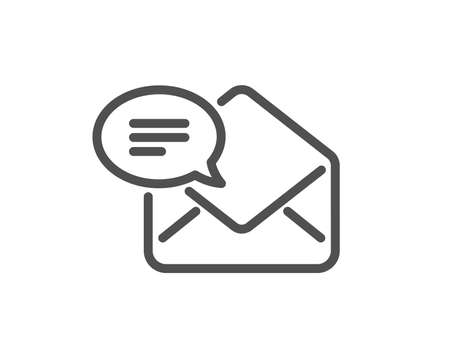 New Mail line icon. Message correspondence sign. E-mail symbol. Quality design element. Classic style read mail icon. Editable stroke. Vector