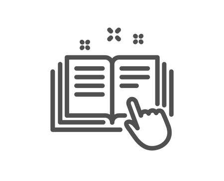 Technical documentation line icon. Instruction sign. Quality design element. Classic style technical instruction icon. Editable stroke. Vector 向量圖像