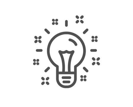 Idea line icon. Light bulb or Lamp sign. Creativity, Solution or Thinking symbol. Quality design element. Classic style idea lamp icon. Editable stroke. Vector 向量圖像