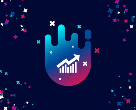 Chart simple icon. Report graph or Sales growth sign. Analysis and Statistics data symbol. Cool banner with icon. Abstract shape with gradient. Vector 일러스트