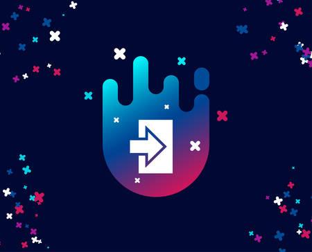 Icône simple de flèche de connexion. Symbole de connexion. Pointeur de navigation. Bannière cool avec icône. Forme abstraite avec dégradé. Vecteur
