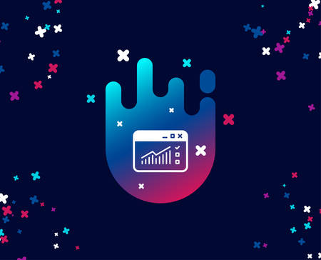 Website Traffic simple icon. Report chart or Sales growth sign. Analysis and Statistics data symbol. Cool banner with icon. Abstract shape with gradient. Vector