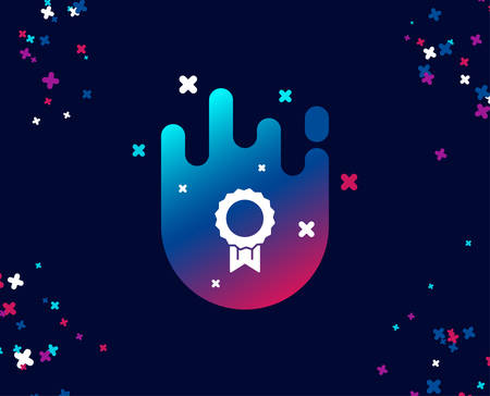 Award Medal simple icon. Winner achievement symbol. Glory or Honor sign. Cool banner with icon. Abstract shape with gradient. Vector