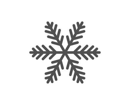 Icono de línea de copo de nieve.