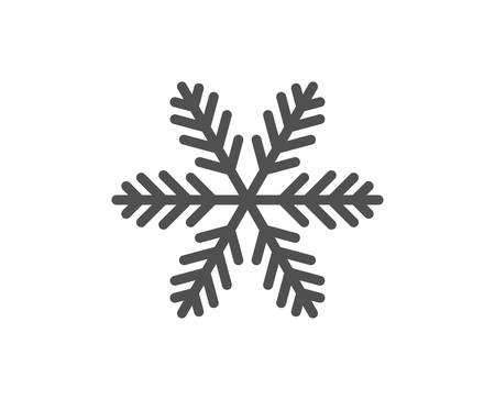 Snowflake line icon. Christmas snow sign. Winter or cold symbol. Quality design element. Classic style snowflake. Editable stroke. Vector