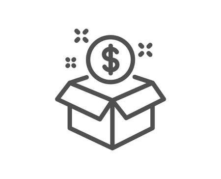 Post package line icon. Paid service sign. Quality design element. Classic style. Editable stroke. Vector