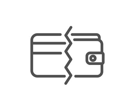 Credit card or cash line icon. Payment methods sign. Quality design element. Classic style. Editable stroke. Vector Illustration