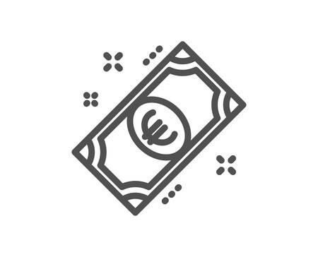 Euro money line icon. Payment method sign. Eur symbol. Quality design element. Classic style euro cash. Editable stroke. Vector Illustration