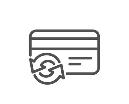 Change credit card line icon. Payment method sign. Quality design element. Classic style. Editable stroke. Vector 向量圖像