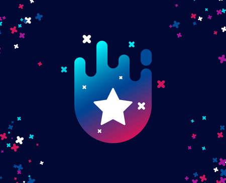 Icona semplice stella. Miglior segno di rango. Segnalibro o simbolo preferito. Banner cool con l'icona. Forma astratta con gradiente. Vettore