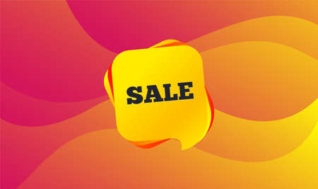 Sale sign icon. Special offer symbol. Wave background. Abstract shopping banner. Template for sale design. Vector