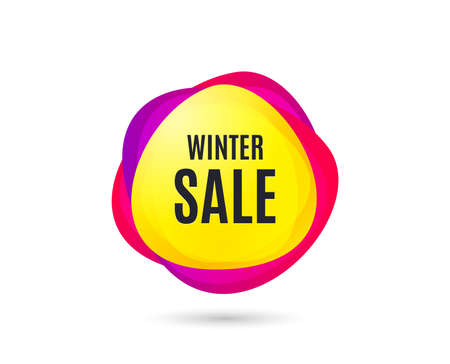 Winter Sale. Special offer price sign. Advertising Discounts symbol. Gradient sales tag. Abstract shopping banner. Template for design. Vector  イラスト・ベクター素材