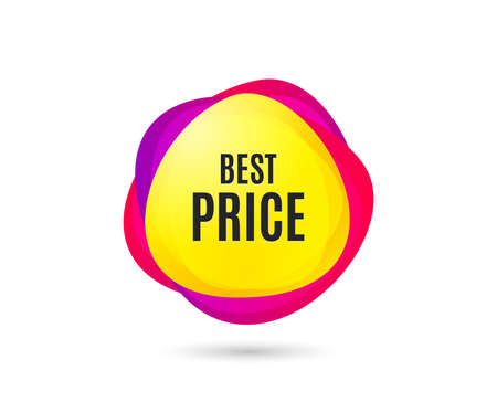 Best Price. Special offer Sale sign. Advertising Discounts symbol. Gradient sales tag. Abstract shopping banner. Template for design. Vector Stock Illustratie