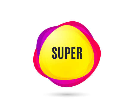 Super symbol. Special offer sign. Best value. Gradient sales tag. Abstract shopping banner. Template for design. Vector