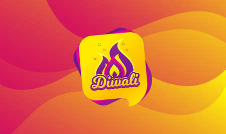 Diwali festival greeting card. Hindu festive modern banner. Indian rangoli concept. Deepavali or diwali festival of lights. Happy Indian holiday background. Speech bubble vector Illustration