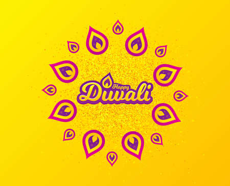 Diwali festival greeting card. Hindu festive modern background. Indian rangoli concept. Deepavali or diwali festival of lights. Happy Indian holiday. Vector