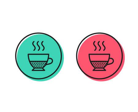 Doppio coffee icon. Hot drink sign. Beverage symbol. Positive and negative circle buttons concept. Good or bad symbols. Doppio Vector Illustration