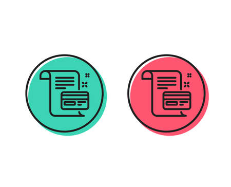 Payment credit card line icon. Money by mail sign. Agreement conditions symbol. Positive and negative circle buttons concept. Good or bad symbols. Payment card Vector