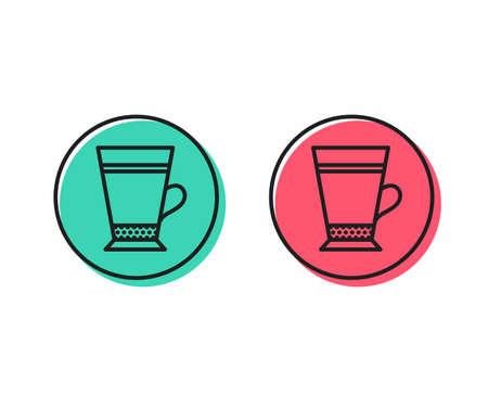 Latte coffee icon. Hot drink sign. Beverage symbol. Positive and negative circle buttons concept. Good or bad symbols. Latte Vector Standard-Bild - 111104162
