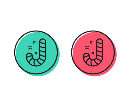 Christmas candy line icon. Cane lollypop sign. Positive and negative circle buttons concept. Good or bad symbols. Candy Vector 일러스트