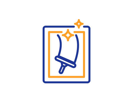 a679c2239de Window cleaning line icon. Washing service symbol. Housekeeping equipment  sign. Colorful outline concept