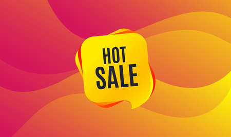 Hot Sale. Special offer price sign. Advertising Discounts symbol. Wave background. Abstract shopping banner. Template for design. Hot sale vector Illustration
