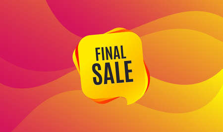 Final Sale. Special offer price sign. Advertising Discounts symbol. Wave background. Abstract shopping final sale banner. Template for design. Vector