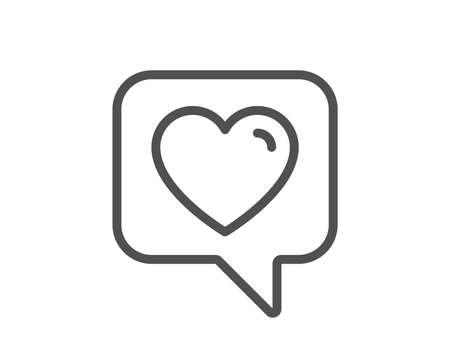Heart line icon. Favorite like sign. Positive feedback symbol. Quality design flat app element. Editable stroke Heart icon. Vector