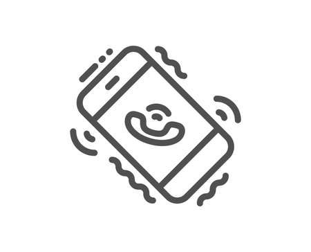 Call center service line icon. Phone support sign. Feedback symbol. Quality design flat app element. Editable stroke Call center icon. Vector Ilustrace