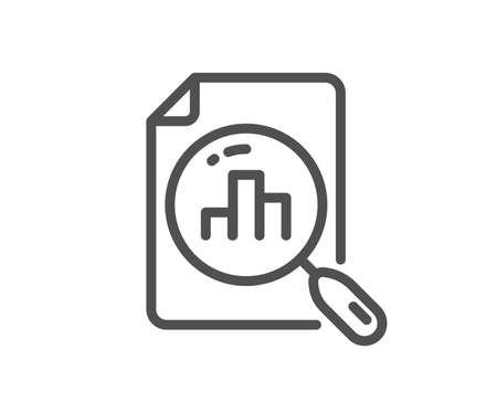 Analytics graph line icon. Column chart sign. Growth diagram symbol. Quality design flat app element. Editable stroke Analytics graph icon. Vector Illustration