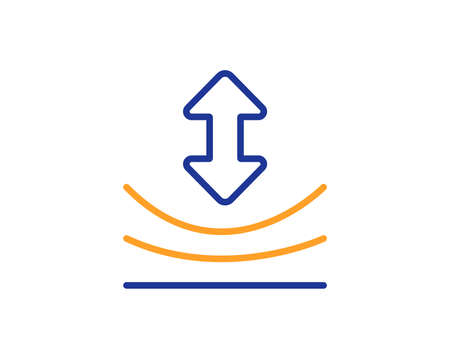 Resilience line icon. Elastic material sign. Colorful outline concept. Blue and orange thin line color icon. Resilience Vector