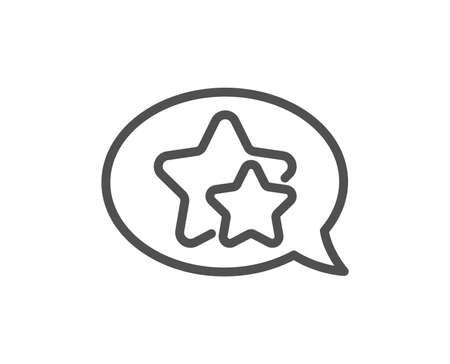 Stars line icon. Favorite sign. Positive feedback symbol. Quality design flat app element. Editable stroke Star icon. Vector