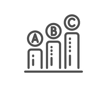 Graph line icon. Column chart sign. Ab test diagram symbol. Quality design flat app element. Editable stroke Graph chart icon. Vector