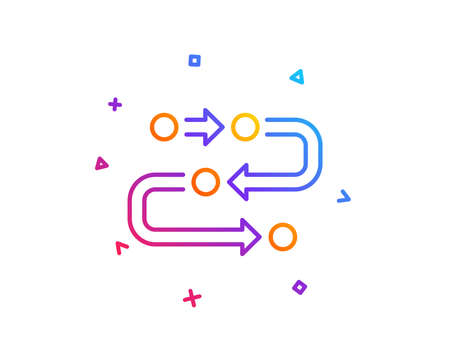Methodology line icon. Development process sign. Strategy symbol. Gradient line button. Methodology icon design. Colorful geometric shapes. Vector