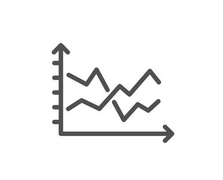 Diagram chart line icon. Presentation graph sign. Market analytics symbol. Quality design flat app element. Editable stroke Diagram chart icon. Vector
